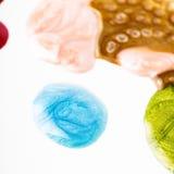 Poured nail polishes Stock Photo