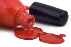 Free Poured Nail Varnish, Isolated Royalty Free Stock Photo - 16490485