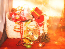 poured out of the box Christmas toys Royalty Free Stock Photo