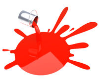 Poured red paint isolated Royalty Free Stock Photography