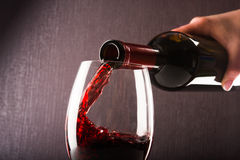 Poured red wine royalty free stock image