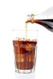 Poured soda in a glass Royalty Free Stock Photography