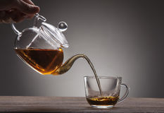 Poured from a teapot Royalty Free Stock Photo