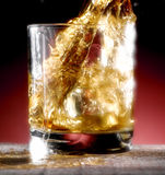 Poured whiskey Stock Photo