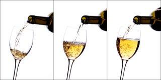 Poured white wine Royalty Free Stock Photos