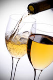 Poured white wine Royalty Free Stock Image