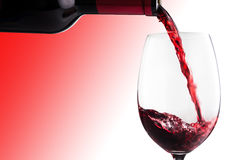 Poured wine Royalty Free Stock Photography