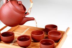 Pourin tea Royalty Free Stock Images