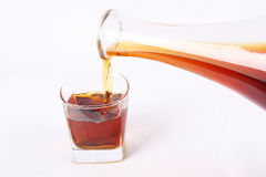 Pouring alcohol Royalty Free Stock Photo