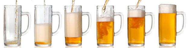 Pouring beer. 43 Mpxls. Royalty Free Stock Photography