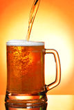 Pouring beer into mug Stock Photography