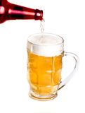 Pouring beer into mug Stock Photography