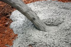 Free Pouring Cement Stock Image - 1813221