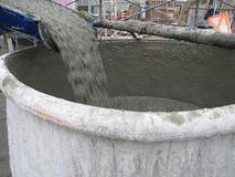 Pouring cement Royalty Free Stock Photography