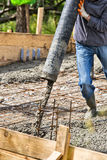 Pouring cement Royalty Free Stock Photo