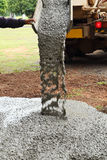 Pouring cement Royalty Free Stock Photos