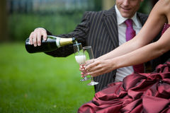 Pouring champagne Royalty Free Stock Photography