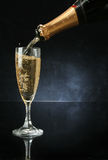 Pouring a champagne flute Stock Image