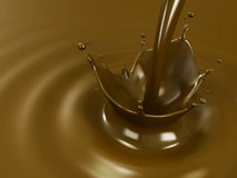 Pouring chocolate or cocoa with copyspace Stock Images