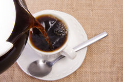 Pouring coffee Stock Photography