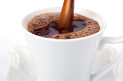 Pouring coffee Royalty Free Stock Image