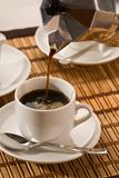 Pouring coffee Royalty Free Stock Photography