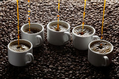 Pouring coffee Stock Image
