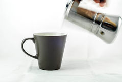 Pouring Coffee Royalty Free Stock Photo