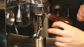 Pouring coffee ins slow motion stock footage