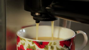 Pouring coffee stock video