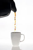 Pouring coffee Stock Photos