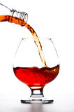 Pouring Cognac Royalty Free Stock Images