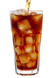 Pouring Cola Royalty Free Stock Photos