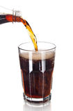 Pouring Cola  Royalty Free Stock Image