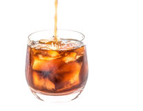 Pouring Cola Drink II Stock Image