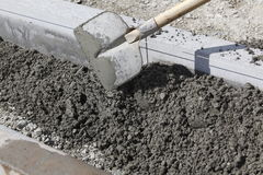 Pouring concrete Stock Photos