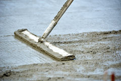 Pouring concrete. Construction site pouring concrete Royalty Free Stock Image