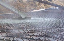 Pouring concrete Stock Photos