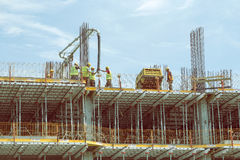 Pouring Concrete In a High Rise Building 3 Royalty Free Stock Photography