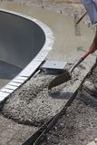 Pouring a concrete pool deck Stock Photography