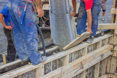 Pouring Concrete Stock Photography