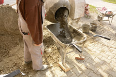 Pouring concrete Royalty Free Stock Photos