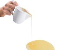 Pouring Condensed Milk VI Royalty Free Stock Photo