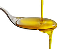Pouring cooking oil Royalty Free Stock Photo