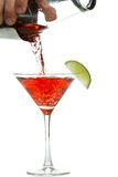 Pouring a cosmo Royalty Free Stock Photography