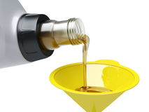 Pouring engine oil Royalty Free Stock Image