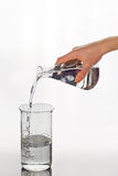 Pouring from the flask into the flask Royalty Free Stock Photos
