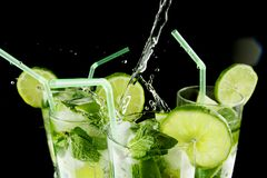 Pouring mojito Royalty Free Stock Image