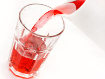 Pouring fruit juice Royalty Free Stock Photos