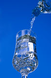 Pouring Glass of Water Royalty Free Stock Image